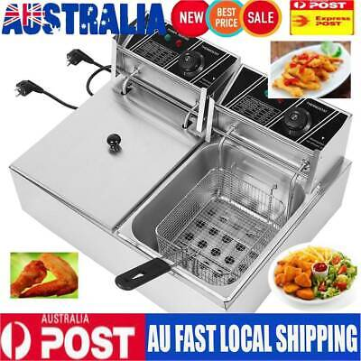 5000W Commercial Deep Fryer Electric Double Basket Benchtop Cooker