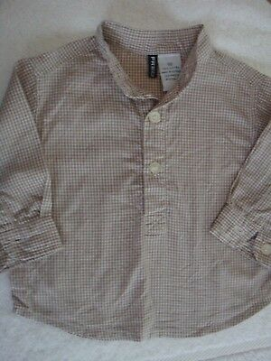 Fred Bare  Boys L/S Check Shirt Size 00