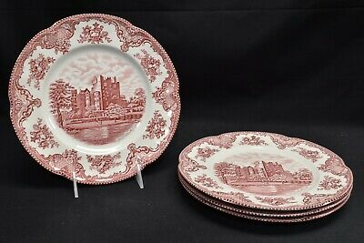 Johnson Brothers Old Britain Castles Pink Set of 4 Dinner Plates