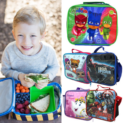 Lunch Bag For Kids Boys Girls Toddlers School Cartoon Character Disney Marvel