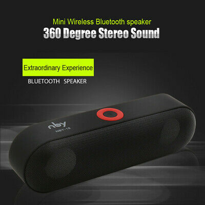 Bluetooth Speaker HiFi 3D Stereo Wireless Sound Box with Mic AUX TF FM USB Port