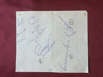 3 Autografi originali US CAGLIARI 90/91-Rocco/Cornacchia/All.C.Ranieri-IN PERSON