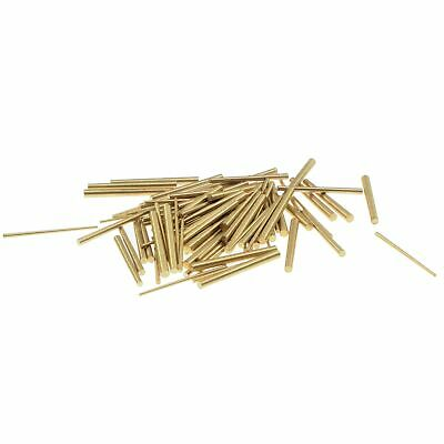 100 brass conical clock pins, assortment with three sizes