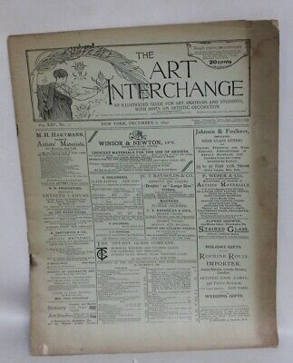 ANTIQUE Arts & Crafts Era Magazine THE ART INTERCHANGE December 6, 1890