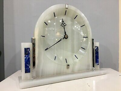 Art Deco Stylish 8 Day Marble Bracket Clock c1920