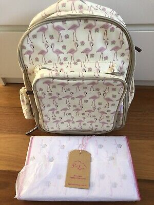 Pink Lining Baby Backpack And New Changing Mat And Zip Wetbag