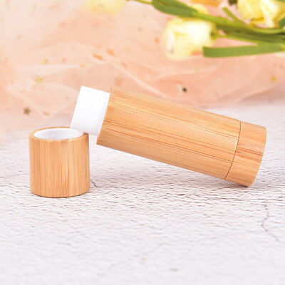 5g Bamboo Empty Lip Gross Container Lipstick Tube DIY Container Lip Balm Tube^S
