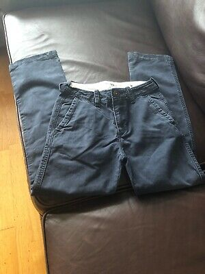 Boys Abercrombie Chinos Age 12 Navy