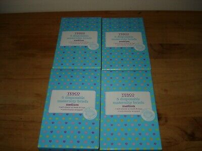 Tesco 4 Packs of 5 = 20 Disposable Maternity Briefs Medium 14-16