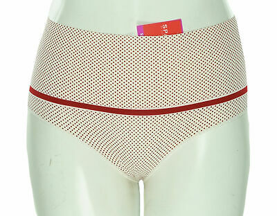 Spanx Women's Plus Size Firm Control High Cut Brief Red Polka Dots Size 1X