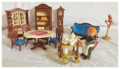 Playmobil Victorian Lounge Dining Room Mansion Doll House Furniture Set 5320