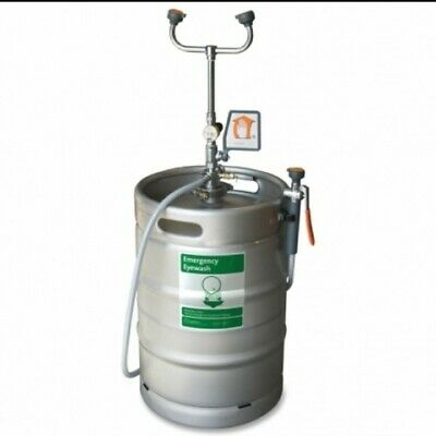 Guardian Equiptment, 15 gal Keg Eye Wash Station, with sprayer attachment.