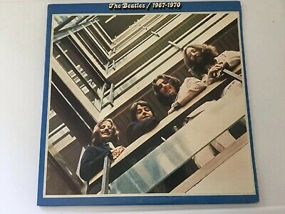 1973 The Beatles 1967-1970 Album Double LP Blue Vinyl SEBX-1-11843 Capitol