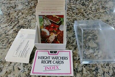 VTG 1976 Weight Watchers International Recipe Cards Index with Box Most Sealed!