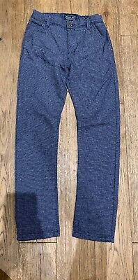 Next!! Boys Blue Smart Trouser, Size 10 Years, VGC, Adjustable Waist