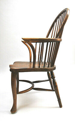 Antique Early Thames Valley Ash & Elm Windsor Chair c.1780 - 1810