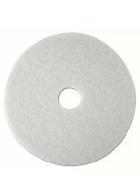 "3M 20"" Super Polishing Floor Pads in White 4100, 15 Pads (New Damaged Box)"