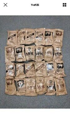 MRE US MILITARY Case A/B 4 Random Draw - MEALS READY TO EAT - insp date 2020