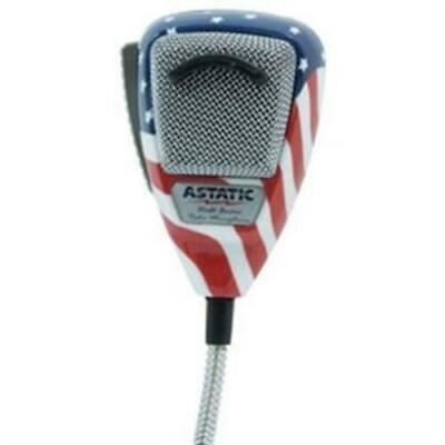 Astatic 302-10309 636L Noise Canceling 4-Pin CB Microphone Stars N ft. Stripes