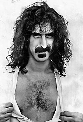 Art print POSTER CANVAS Frank Zappa in Uniform and Epaulettes