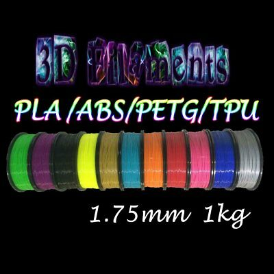 PanTech 3D Printing Filament PETG PLA ABS TPU 1.75MM 1KG Flexible printer #TG NA