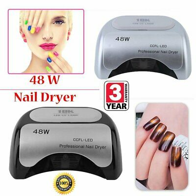 Black 48W LED UV Nail Lamp Light Gel Polish Dryer Art Curing Timer AU Plug NA