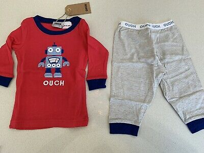 Ouch Boys Pajama Set Size 0
