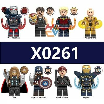 Custom fit Lego Captain Marvel The Avengers 4 Endgame Minifigures Toys Iron Man