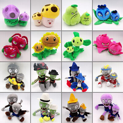 Plants vs Zombies PVZ 2 Figures Plush Baby Staff Toy Stuffed Soft Dolls Xmas Set