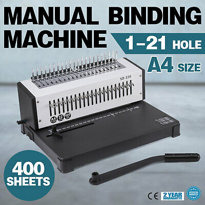 Coil Binding Machine A4 21 Holes Paper Puncher Home Efficient Steel Blade