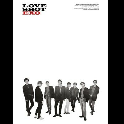 EXO [LOVE SHOT] 5th Repackage Album SHOT VER. Sealed CD+Booklet+PhotoCard K-POP