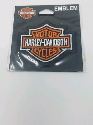 Harley Davidson Classic Bar And Shield Orange Sew On Embroidered Patch made USA