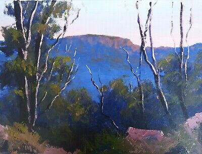 Rod Moore Blue Mountains Landscape Australian Original Oil Painting Art