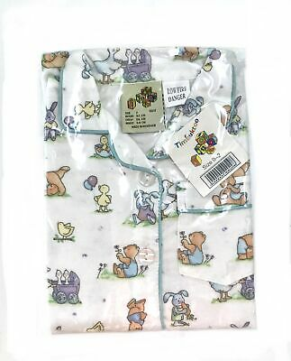 Timbuktoo Flanalette Children's Pyjamas with Cute Bear, Bunny, Ducks and Chick.