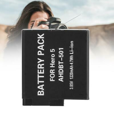 3.85V 1220mAh AHDBT-501 Rechargeable Battery for Gopro Hero 7 6 5 Cam Accessory