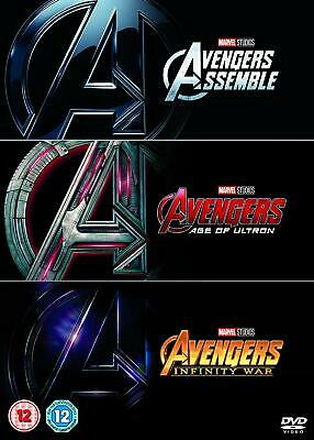 AVENGERS 1-3 DVD Trilogy Box Set Collection Assemble Age of Ultron Infinity War