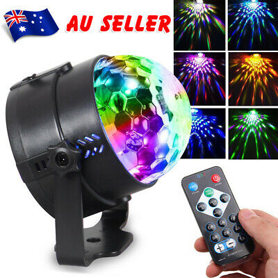 USB RGB LED Disco Lights Ball DJ Party Effect Remote Sound Activated Strobe Lamp