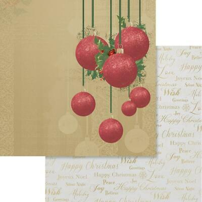 """Couture Creations - NAUGHTY OR NICE 4 - 12x12"""" d/sided scrapbooking paper"""