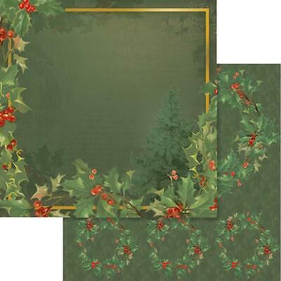 """Couture Creations - NAUGHTY OR NICE 1 - 12x12"""" d/sided scrapbooking paper"""