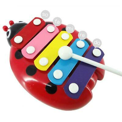 Baby Child Kids 5-Note Xylophone Musical Music Toy Wisdom Development Beetle Fun