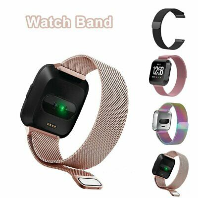 Milanese Loop Wrist Watch Band for Fitbit Versa Stainless Steel Metal Strap PQ