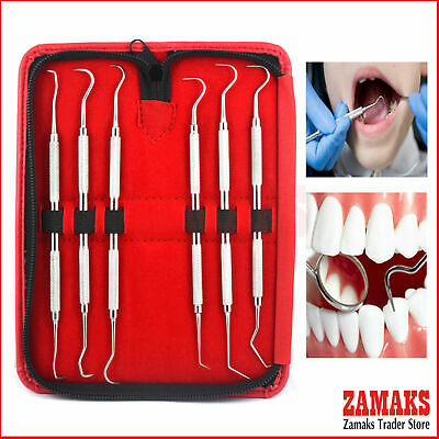 Dental Student Calculus Tooth Scraper Kit Diagnostic Lab Teeth Inspection Tools