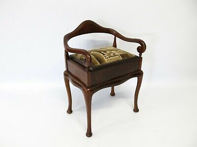 Rare Antique piano - music stool - arm chair #2400L