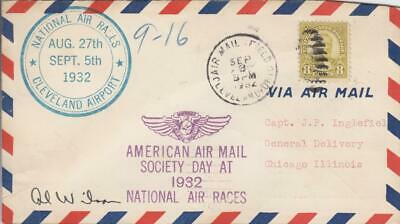 1932, National Air Races, Cleveland, OH, Signed by Pilot (30293)