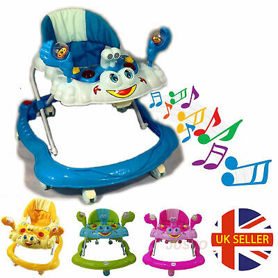 Baby Walker First Step Push Along Bouncer Music Ride On Car Melody Boys Girls