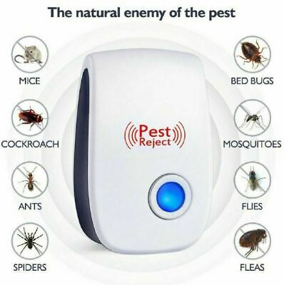 Ultrasonic Pest Reject Bug Mosquito Rat Mouse Killer Electronic Repeller Control