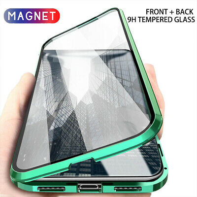 Case for iPhone 11 Pro XS Max XR 360 ° Magnetic Adsorption Tempered Glass Cover