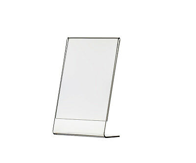 "4"" x 6"" Vertical Picture Frame Display Sign Holder Slant Back Wholesale Clear"