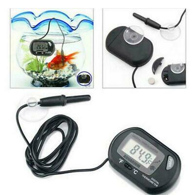 LCD Digital Fish Tank Reptile Aquarium Water Meter Thermometer Best Tempera G5J8