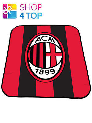 Ac Milan Red Fleece Blanket Cover Crest Wrap Bullseye Football Soccer Club Team